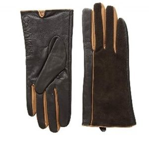 Calvin Klien Leather W pop color Gloves NWOT